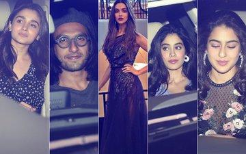 Ranveer Singh, Alia Bhatt, Jhanvi Kapoor, Sara Ali Khan Celebrate Padmavati With Deepika Padukone