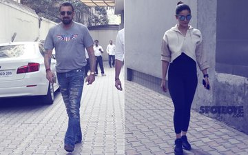 PICS: Alia Bhatt & Sanjay Dutt Snapped Outside Vishesh Films' Office
