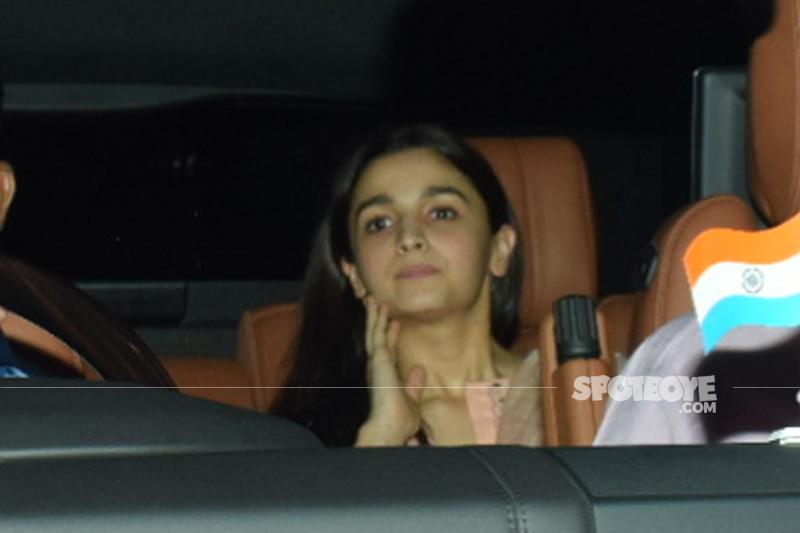 alia bhatt snapped at sanju screening