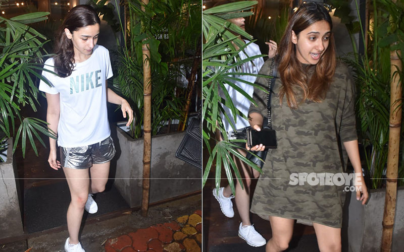 Alia Bhatt Wears Holographic Hot Pants On A Lunch Date With Akansha Ranjan – Pics
