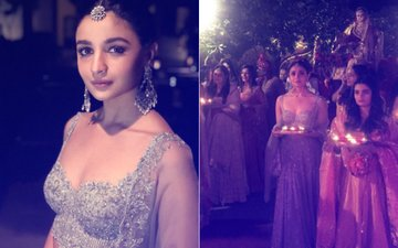 MY BEST FRIEND'S WEDDING: Alia Bhatt Shines In A Shimmery Lehenga As She Walks With The Bride's Doli