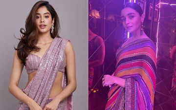 Alia Bhatt OR Janhvi Kapoor; Whose Saree Is Setting Your Pulse Racing? - Pretty Pics Inside
