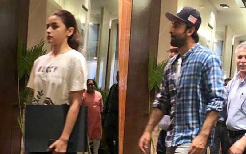 Ranbir Kapoor-Alia Bhatt Spotted At Interior Designer Firm- Time To Move In Together?