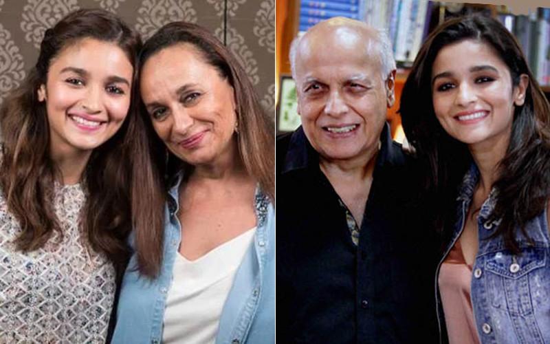 Alia Bhatt With Mom And Dad