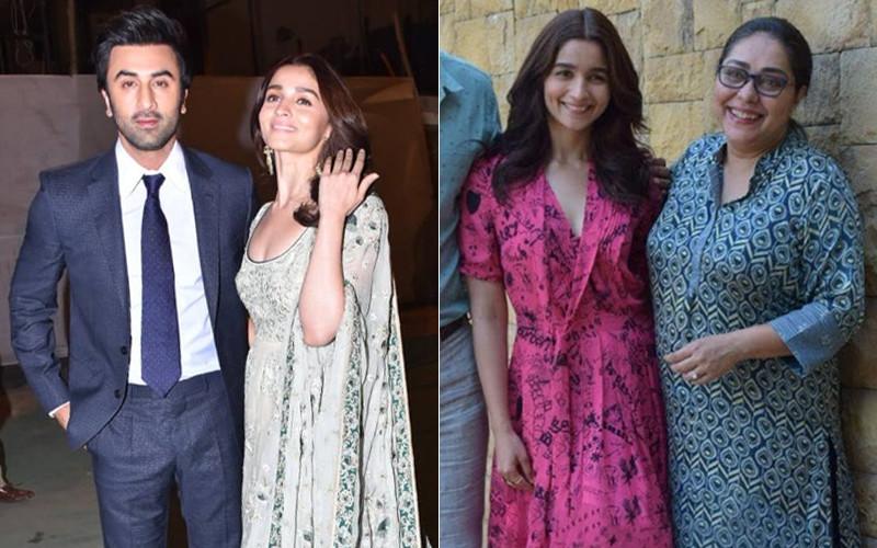 Alia Bhatt With Ranbir Kapoor And Meghna Gulzar
