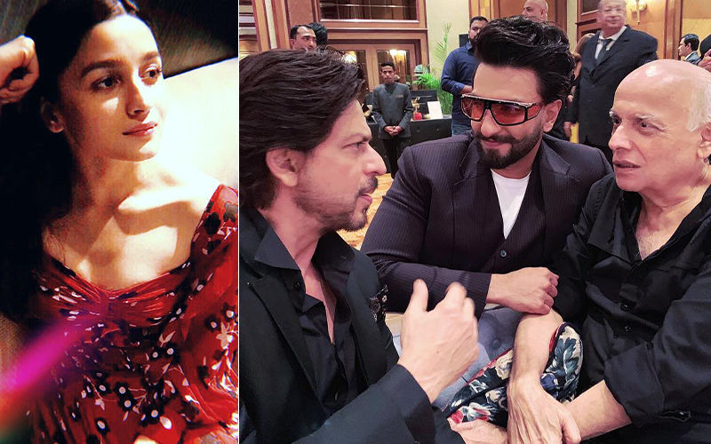 "Alia Bhatt's ""Boys""- Shah Rukh Khan, Ranveer Singh And Mahesh Bhatt- Are Busy Discussing What?"