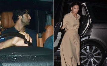 Alia Bhatt-Ranbir Kapoor Look Mighty Fine  As They Step Out In Style For A Meeting At Dharma Productions' Office - PICS