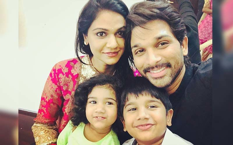 Allu Arjun Spends A Happy Time With Daughter Arha And Son Ayaan In Hyderabad; Watch The Adorable Video