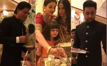 ईशा अंबानी वेडिंग: अमिताभ और आमिर के बाद शाहरुख़, ऐश्वर्या और अभिषेक बच्चन भी मेहमानों को खाना परोसते दिखाई दिए