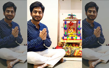 Amey Wagh Looks Cute As He Plays The Dhol In Ganpati Visarjan In A Typical Marathi Look