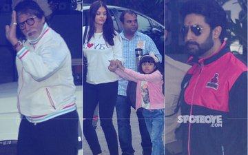 IN PICS: Abhishek, Aishwarya, Shweta Leave For Maldives To Celebrate Amitabh Bachchan's 75th Birthday