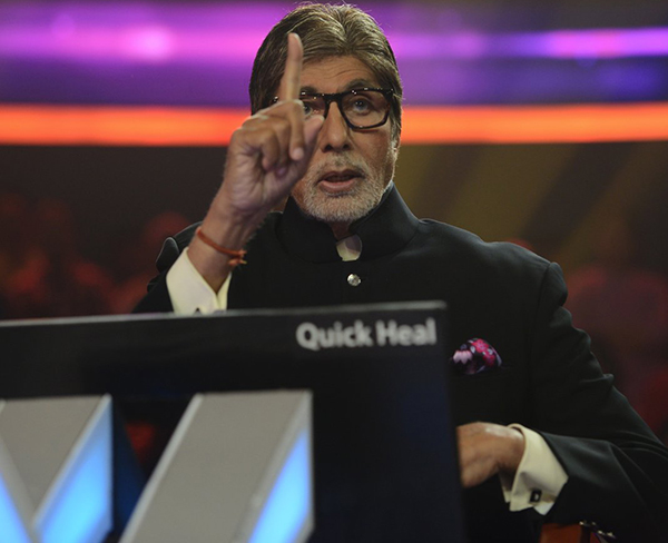 amitabh bachchan on the sets of kaun banega crorepati 2017
