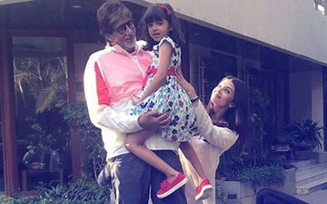 IN PICS: Aaradhya Bachchan Waves At Grandfather Amitabh Bachchan's Fans