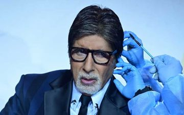 Amitabh Bachchan Shares Pics Of Him Surrounded By Crew Wearing PPE Kits While He Gets His Hair And Makeup Done On The Sets Of KBC 12