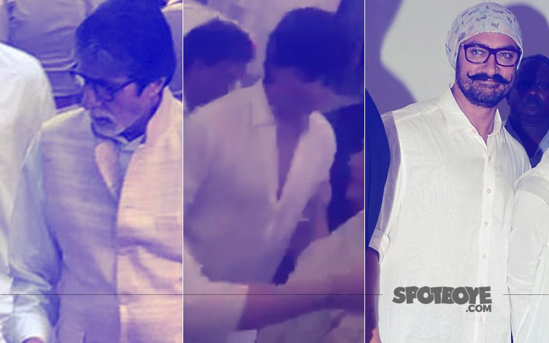 Amitabh Bachchan, Shah Rukh Khan, Aamir Khan Gather At Vinod Khanna's Prayer Meet