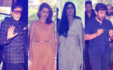 Thugs Of Hindostan Trailer Launch: Amitabh Bachchan, Katrina Kaif, Aamir Khan And Fatima Sana Shaikh Arrive. Excitement In The Air!