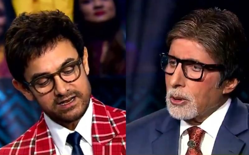 KBC शो में आमिर खान ने अमिताभ बच्चन से पुछा ऐसा सवाल कि दंग रह गए बिग बी