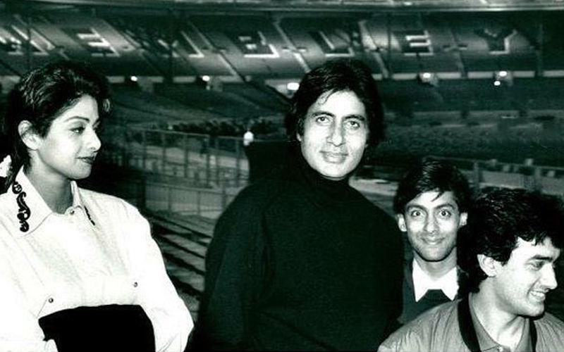 अमिताभ बच्चन ने श्रीदेवी, सलमान खान और आमिर के साथ शेयर की बेहद पुरानी तस्वीर, इसके पीछे छुपा हुआ है एक दिलचस्प किस्सा