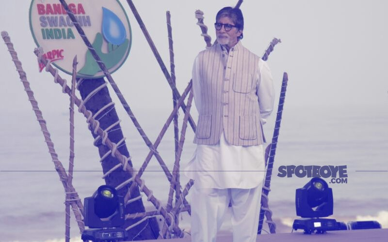 Amitabh Bachchan Participates In The Cleanliness Drive On The Occasion Of Gandhi Jayanti
