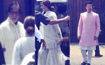 Sonam Kapoor Wedding: Amitabh, Abhishek, Shweta & KJo Reach The Venue