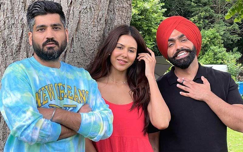 Sherbagga: Ammy Virk And Sonam Bajwa Snapped With Director Jagdeep Sidhu Before Film's Shoot