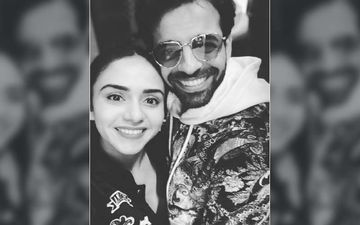 Oww, Amruta Khanvilkar Just Used A Hair Clip On Her Husband's Eyebrows To Wish Him A Happy Anniversary