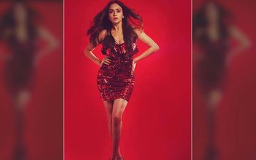 Amruta Khanvilkar In A Spunky Red Mini-Dress Flashing Her Cleavage, Leaves Fans Drooling