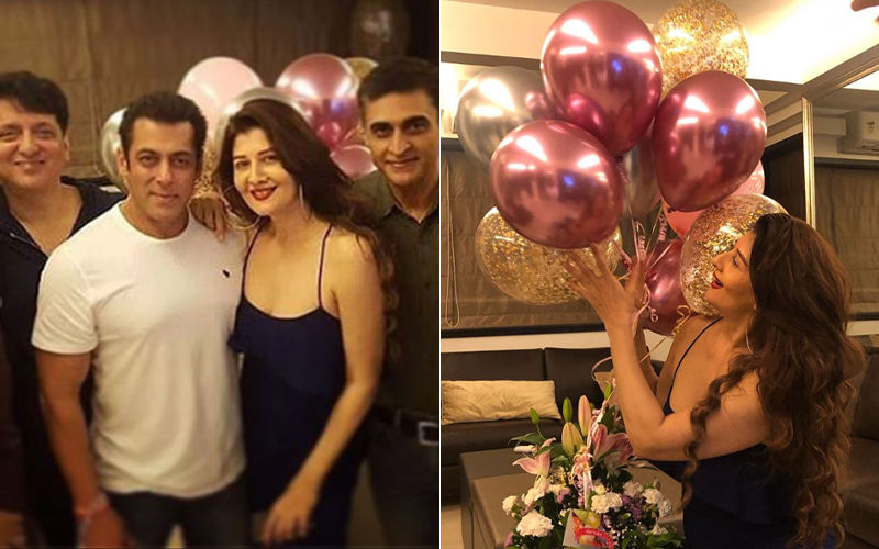 Salman Khan Hosts A Birthday Bash For His Ex-Girlfriend Sangeeta Bijlani At His House - View Inside Pics