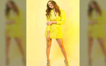 'Malang' Trailer Launch: Amruta Khanvilkar Looks Luscious Hot In A Yellow Blazer Suit