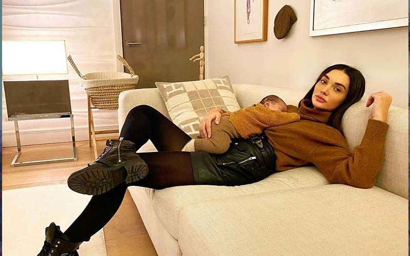 Amy Jackson's Video With Her Cute-As-A-Button Son Andreas Is Priceless