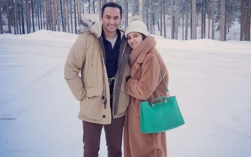 Sania's Sister Anam Mirza And Mohammed Asaduddin's Honeymoon Pictures; Couple Swims In A Half-Frozen Lake