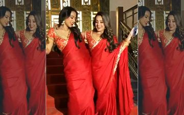 Naagin 4: Nia Sharma-Anita Hassanandani Are Twinning And Winning In Red Sarees On The Sets Of Ekta Kapoor's Show