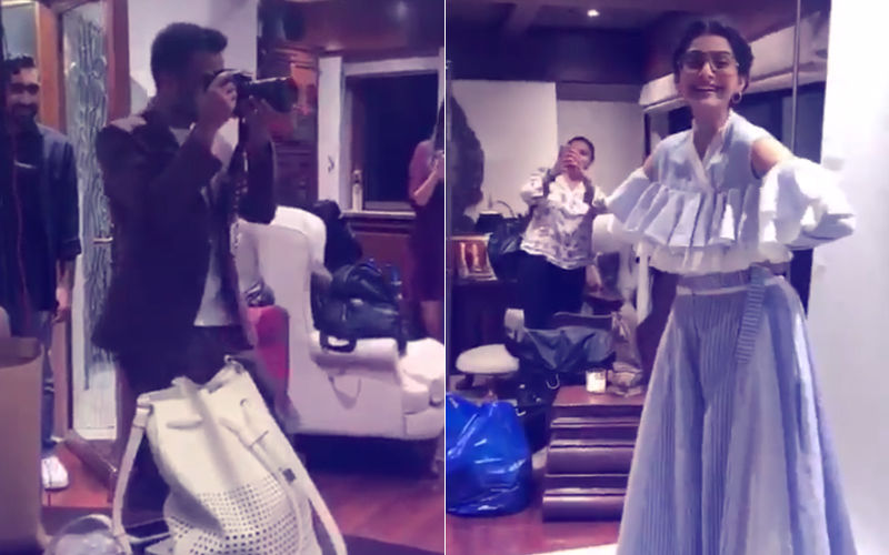 Watch: Anand Ahuja Can't Stop Clicking Pictures Of Sonam Kapoor
