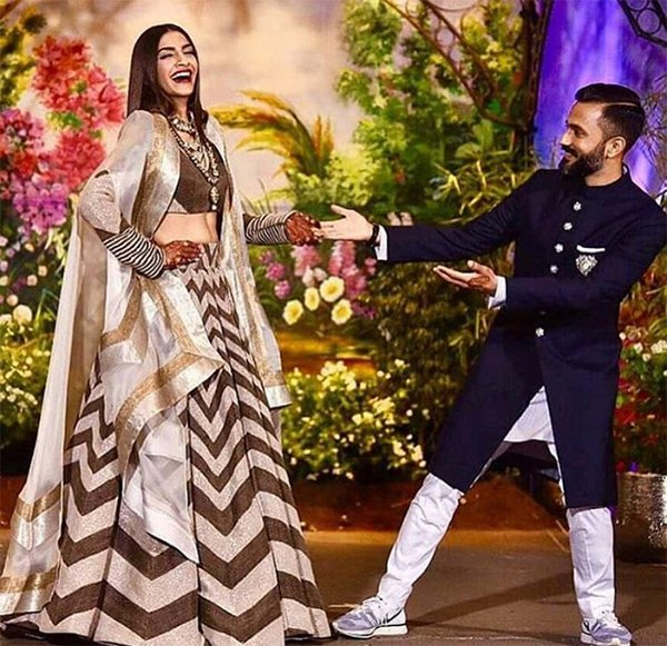 Anand Ahuja In Sneakers With Sonam Kapoor