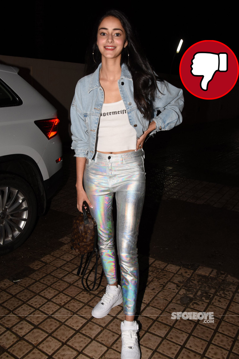 ananya panday at dhadak screening