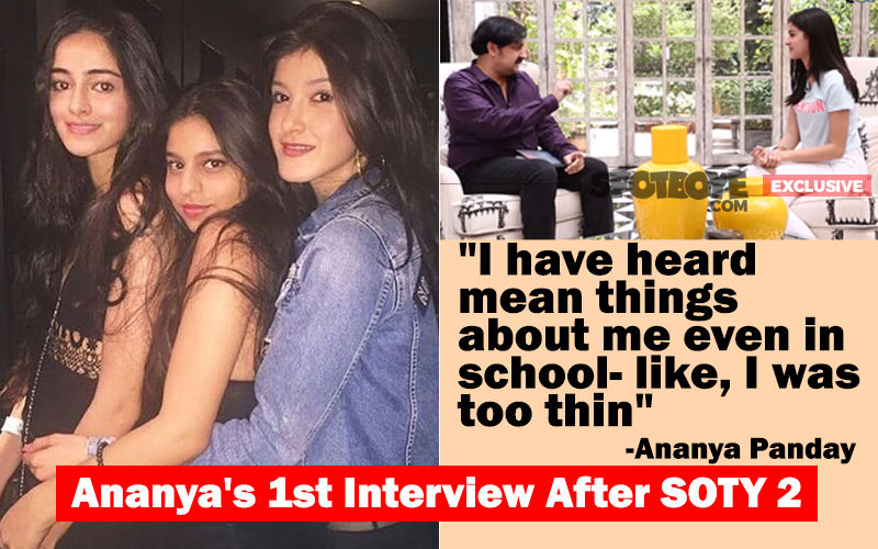 Ananya Panday's Frank Speak On Suhana Khan, Shanaya Kapoor, Shah Rukh Khan And Student Of The Year 2