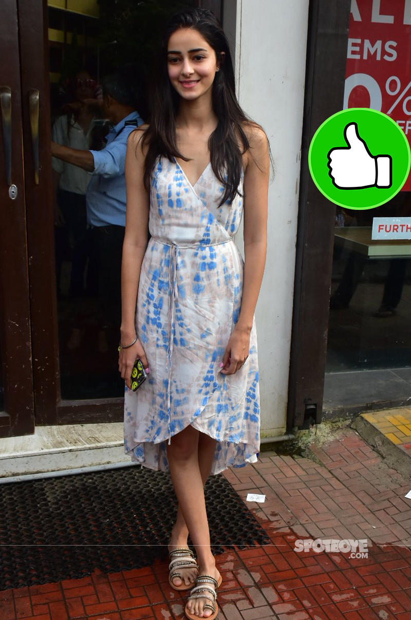 ananya pandey snapped post lunch