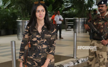 Ananya Panday Twins With An Army Personnel As She Wears A Camouflage Jumpsuit