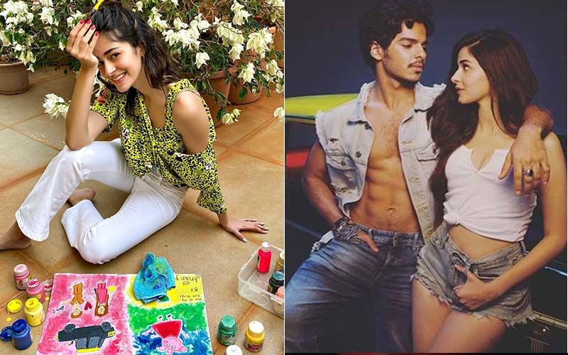 Khaali Peeli: Ananya Panday Paints Unofficial Poster, Ishaan Khatter Can't Recall Shooting With Peppa Pig: 'Must've Missed That Day Of Shoot'