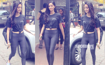 Gym Ready: SOTY 2's Ananya Panday Makes Heads Turn In All-Black Fitness Gear