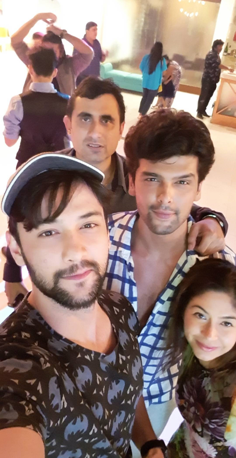 aneri vajani kushal tandon shoot for beyhadhs last episode