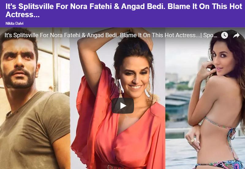 angad bedi and nora fatehi split