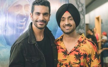 Diljit Dosanjh Visits Angad Bedi Post Knee Surgery; Calls Him The Real Soorma