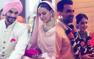 क्या जहीर-सागरिका की शादी के दौरान अंगद बेदी ने नेहा धूपिया को शादी के लिए पूछा था?
