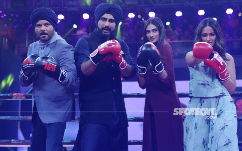 Arjun Kapoor, Anil Kapoor, Ileana D'Cruz, Athiya Shetty Promote Mubarakan At The Super Boxing League
