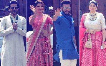 Sonam Kapoor Wedding: Anil, Jacqueline, Arjun & Anshula Arrive
