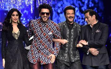 लैक्मे फैशन वीक के चौथे दिन रैम्प पर अनिल कपूर और जान्हवी संग दिखा रणवीर सिंह का जलवा