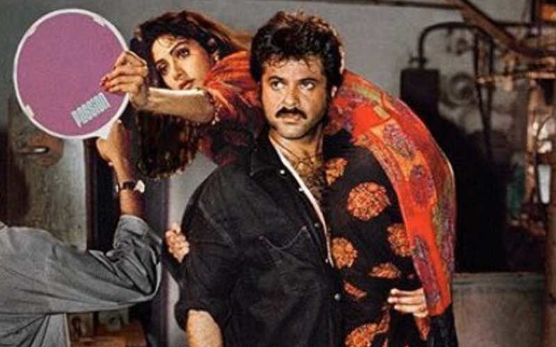 Throwback Pic Of Anil Kapoor With Sridevi On His Shoulder While She Does Last Minute Touch Up Is The Best Thing You Will See Today