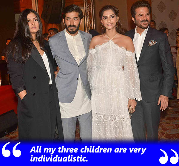 anil kapoor with family
