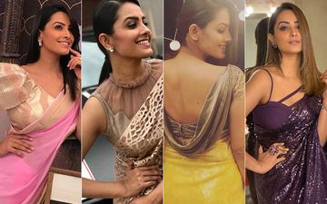 10 Super Trendy And Sexy Blouse Designs Of Anita Hassanandani That You Can Steal From Her Right Away